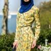 Refka Sarı Çiçek Desenli Tunik