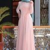 Nurkombin Pudra Petek İşlemeli Elbise