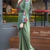 Esra Keküllüoğlu Yeşil Nakışlı Elbise