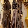 Gamze Özkul Siyah Beren Abiye Elbise