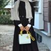 Lavinia Couture Bordo Yünlü Elbise