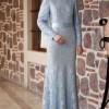 Amine Hüma Bebe Mavisi Mia Balık Abiye Elbise