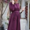 Harem İstanbul Mürdüm Esin Elbise
