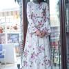 İnşirah Ekru Çiçek Desenli Elbise