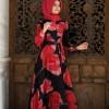 Pınar Şems Bordo Elif Elbise