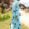 Refka Mint Desenli Elbise