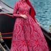 Muslima Wear Kırmızı Diana Abiye Elbise