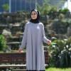 Feyzan Design Gri Siyah İnci Detaylı Elbise