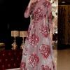 Selma Sarı Design Bordo Silver Abiye Elbise