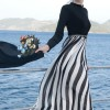 Selma Sarı Design Siyah Amore Şifon Elbise