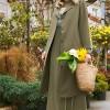 Alia Haki Doğal Kumaşlı Baskılı Elbise