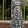 Sazze Design Siyah Tesettür Elbise