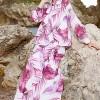 Ayşen Özen Beyaz Pembe Etek & Bluz İkili Takım
