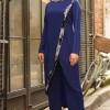 Gizem Kış Saks Hayal Tunik & Pantolon İkili Takım