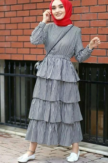 İpekbocugu Çok Renkli Katkat Elbise