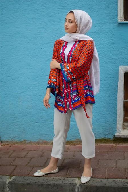 NURNİSA boutique Turuncu Kimono