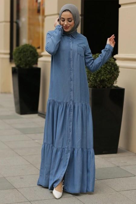 Neways Mavi Tensel Elbise