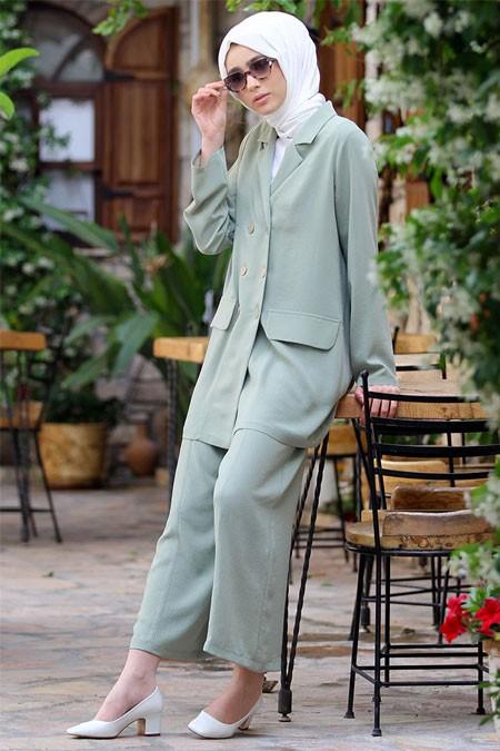 Nurbanu Kural Çağla Stil Pantolon & Ceket Takım
