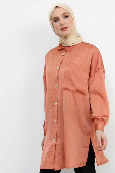 Refka Soğan Kabuğu Cep Detaylı Gömlek