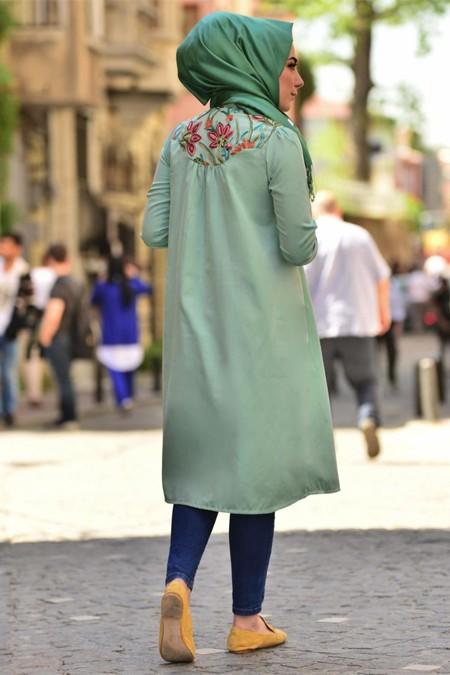 Gestuel Design Yeşil Bahar Tunik