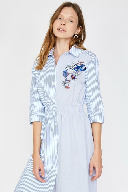 Koton Pul Detaylı Çizgili Elbise Tunik