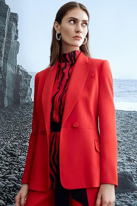 Ipekyol Kırmızı Mono Yaka Ceket