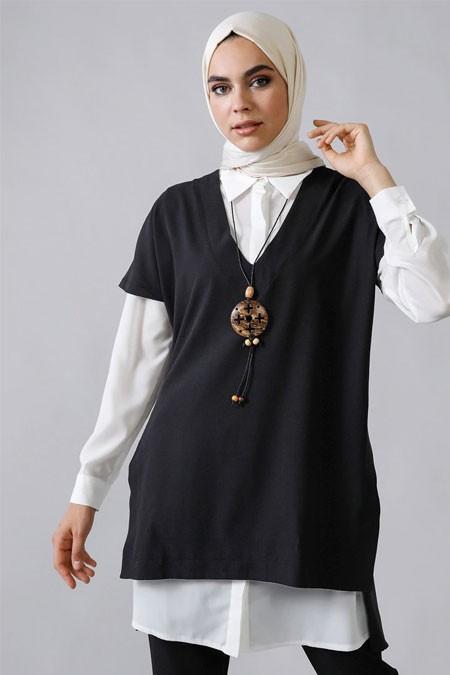 Refka Siyah Gömlek & Tunik İkili Takım