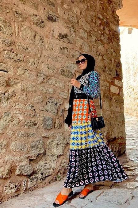 SEMABYDESİGN Çok Renkli Elbise