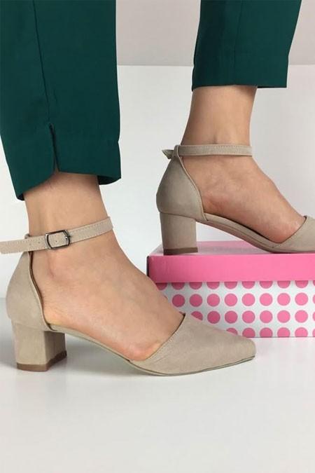 TRANTA SHOES Bej Süet Ayakkabı