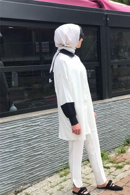 Womsistanbul Beyaz Siyah Gömlek