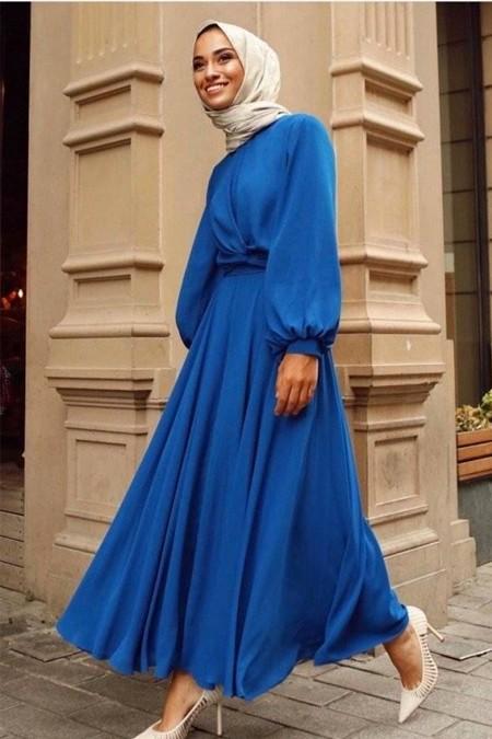 Gizce Mavi Elbise