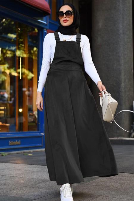 Neways Siyah Askılı Elbise
