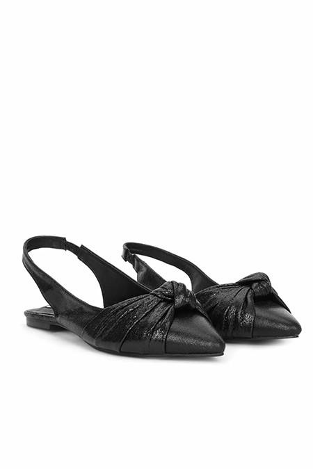 Ipekyol Siyah Lak Baskılı Sandalet