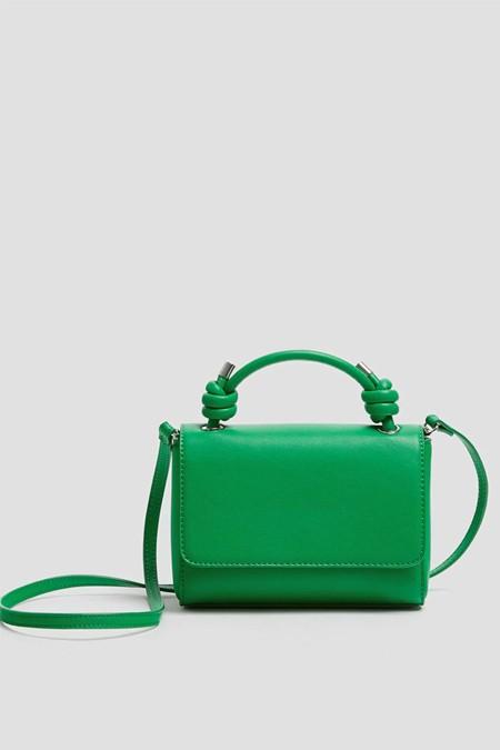 Pull & Bear Yeşil Düğümlü Çapraz Askılı Çanta