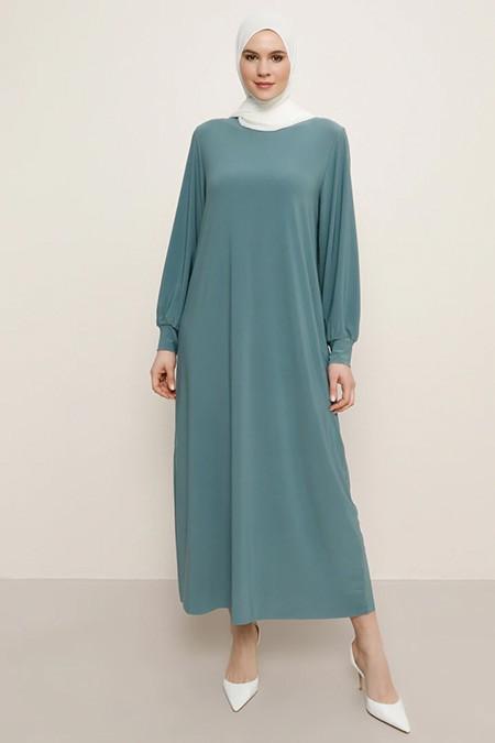 Alia Çam Yeşili Basic Elbise