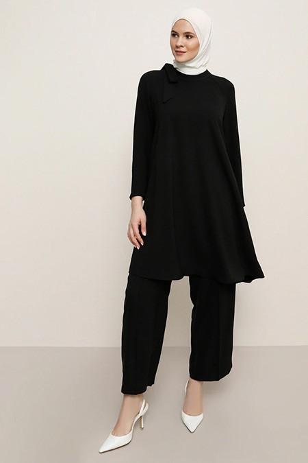 Alia Siyah Tunik&Pantolon İkili Takım