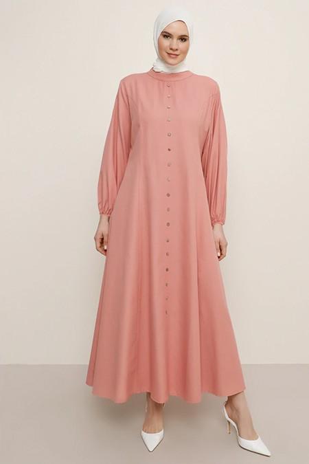 Alia Somon Boydan Düğmeli Elbise