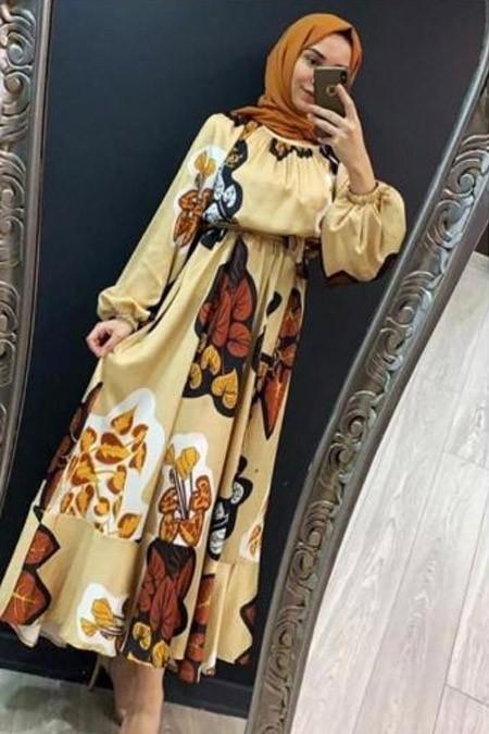 Arzumm Butik Desenli Elbise