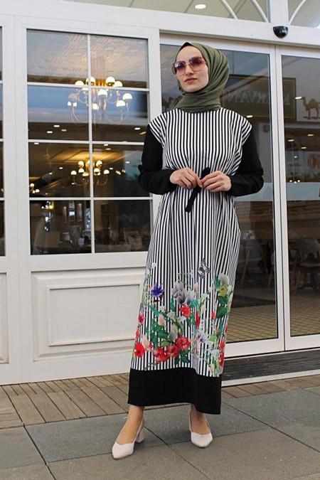 Tasarimeviiim Desenli Elbise