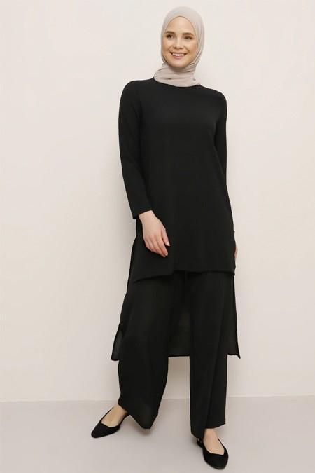 Everyday Basic Siyah Tunik & Pantolon İkili Takım