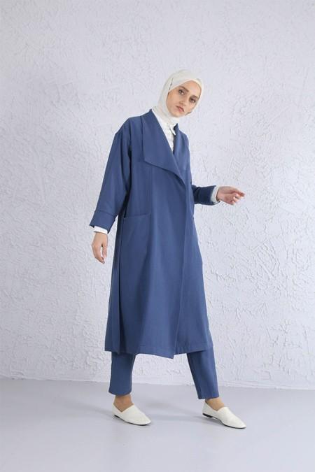 HE-QA Mavi Tencel Ceket