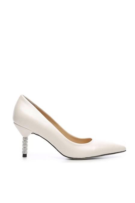 Kemal Tanca Beyaz Vegan Stiletto Ayakkabı
