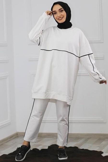 Cember Beyaz Eşofman Takım
