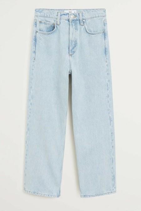 Mango Mavi Düz Kesimli Pamuklu Jean Pantolon