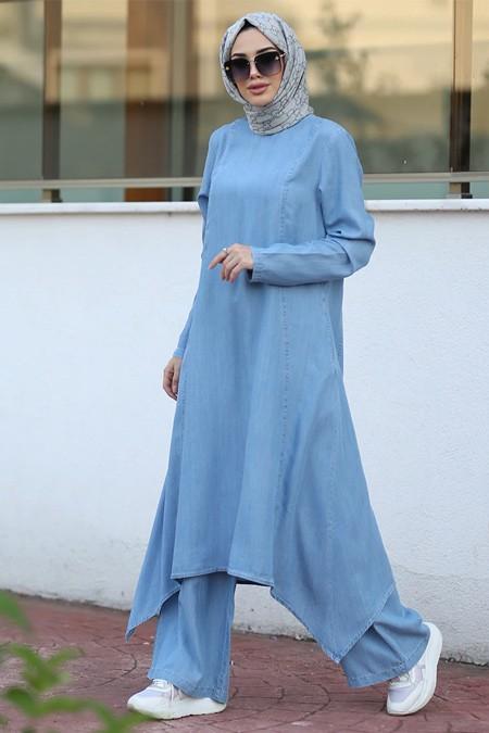Neways Mavi Tunik & Pantolon İkili Takım