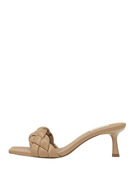 Stradivarius Bej Örgü Detaylı Dolgulu Topuklu Sandalet