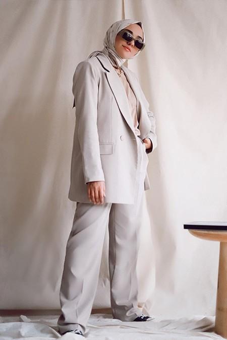 Trendyolmilla Gri Blazer Ceket