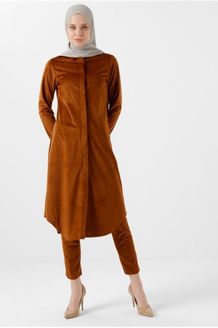 Vera Moda Taba Kadife Pantolon