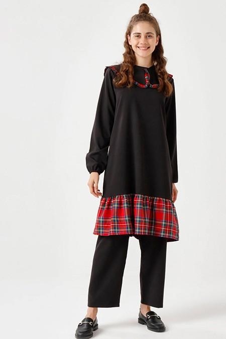 Ceylan Otantik Siyah Tunik&Pantolon İkili Takım