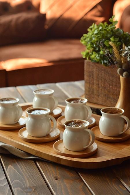 Bambum Torby 6 Kişilik Kahve Takımı